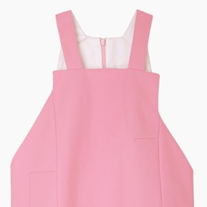 Розовое  платье-передник Jacquemus — Вишлист на Wonderzine