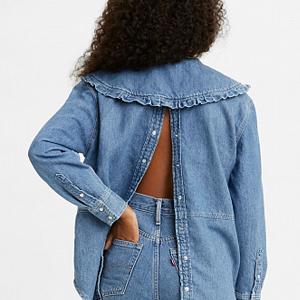 Блуза с округлым воротничком из коллаборации Levi's и Ganni — Вишлист на Wonderzine