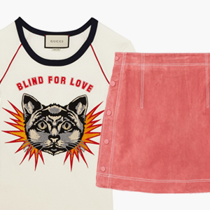 Комбо: Псевдовинтажная футболка с мини-юбкой — Стиль на Wonderzine