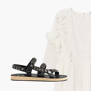 Комбо: Чайное платье со спортивными сандалиями — Стиль на Wonderzine