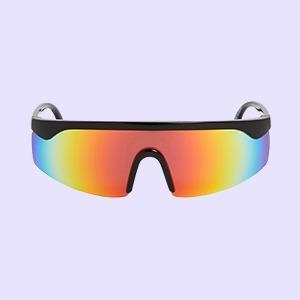 В духе 90-х, с цветными стёклами или без оправы: 25 солнцезащитных очков — Стиль на Wonderzine