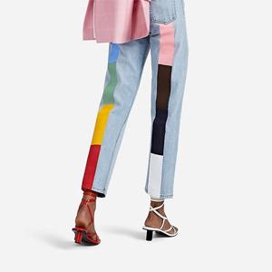 На кого подписаться: Фантазийные джинсы с цветными вставками — Стиль на Wonderzine