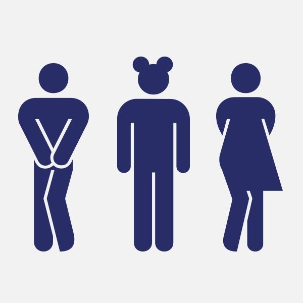 Женщина и парень в туалете интим услугами