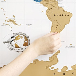 Настенная карта со стираемым слоем  для любителей путешествий — Вишлист на Wonderzine