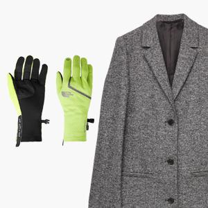 Комбо: Пальто  и околоспортивные перчатки  — Стиль на Wonderzine