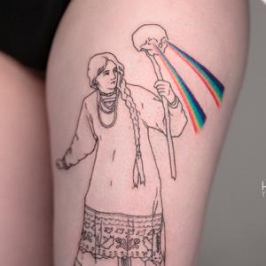 Моя татуировка: Специальная корреспондентка «Холода» Ира Щербакова о Василисе с черепом — Красота на Wonderzine