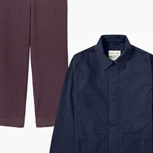 Комбо: Рабочая куртка с прямыми брюками