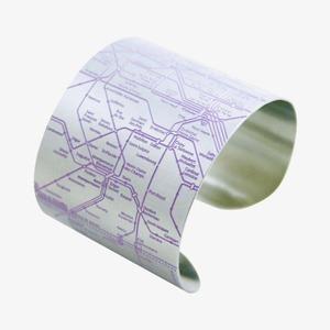 Браслеты  с картами метро  лучших городов мира