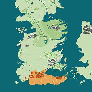 В закладки: Подробная онлайн-карта вселенной «Игры престолов» — Сериалы на Wonderzine