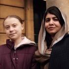 Грета Тунберг первые встретилась  с правозащитницей Малалой Юсуфзай