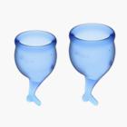 Симпатичные менструальные чаши Satisfyer