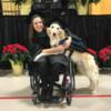 В США собака-поводырь получила диплом магистра вместе с хозяйкой