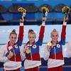 Российские гимнастки впервые выиграли командное многоборье на Олимпиаде