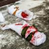 В Петербурге активистки провели акцию «Рожай мясо» у военкомата