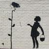 «Девочку с цветком»  Бэнкси выставили  на аукцион