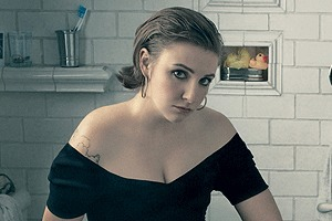Съемка Vogue c Леной Данэм до фотошопа