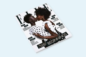 Модель Авенг Аде-Чуол появилась на обложке Elle UK вместе с женой Алексус