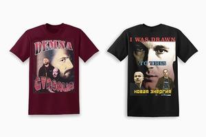 Пародийные футболки с Демной Гвасалией  и Гошей Рубчинским