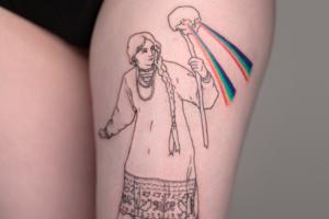 Моя татуировка: Специальная корреспондентка «Холода» Ира Щербакова о Василисе с черепом