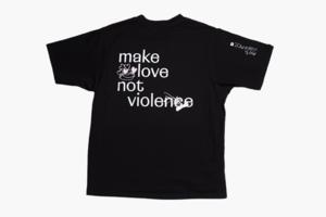Чёрная оверсайз-футболка из коллекции мерча «Насилию.Нет»