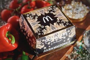 McDonald's выпустили бургер в роскошной упаковке