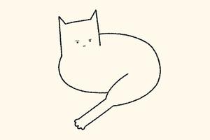 На кого подписаться: Смешные схематичные рисунки котов