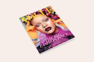 Рианна с бровями-ниточками на обложке британского Vogue