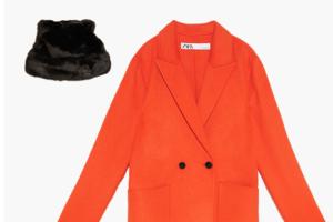 Комбо: Пальто с шапкой из искусственного меха