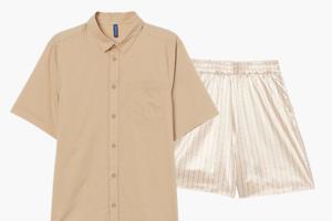 Комбо: Рубашка с коротким рукавом с панталонами