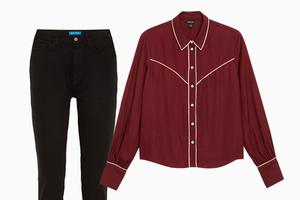 Комбо: Ковбойская рубашка c джинсами