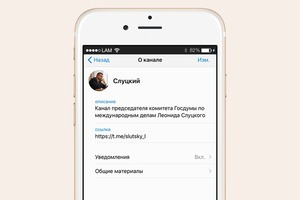 Депутат Леонид Слуцкий завёл телеграм-канал