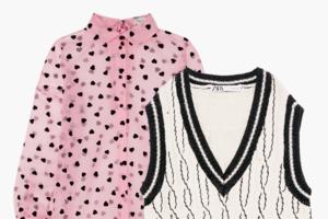 Комбо: Трикотажная жилетка с рубашкой