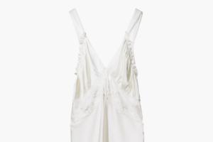 Условно-свадебное шёлковое платье Zara