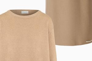 Комбо: Трикотажный свитер с юбкой миди
