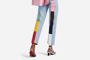 На кого подписаться: Фантазийные джинсы с цветными вставками