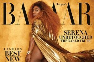Серена Уильямс снялась для обложки Harper's Bazaar без ретуши