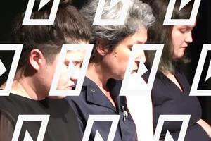 Видео дня: Акция Театра.doc в поддержку сестёр Хачатурян