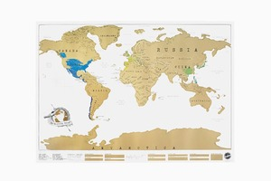 Настенная карта со стираемым слоем  для любителей путешествий