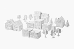 Бумажный макет города ИКЕА за скромные деньги