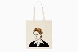 Холщовая сумка с Мирандой в строгом костюме