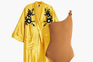 Комбо: Халат со слитным купальником