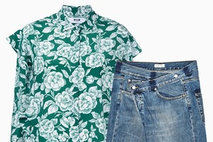 Комбо: Рубашка с фантазийными джинсами