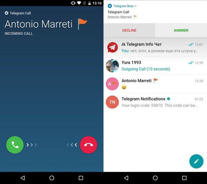 Telegram начали тестировать функцию звонков . Изображение № 1.