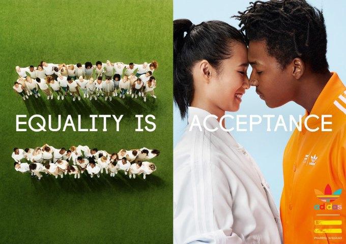 Новая кампания Фаррелла  и adidas Originals продвигает идеи равенства. Изображение № 1.