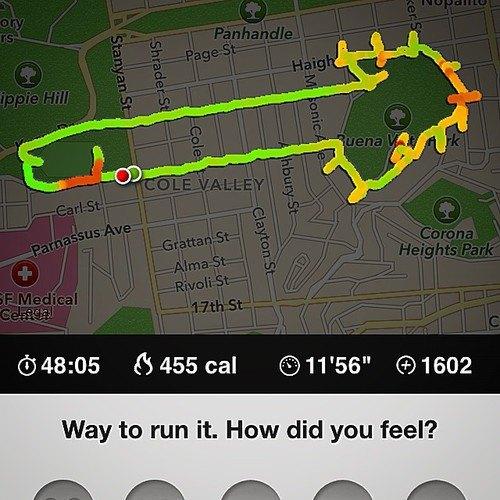 Американка превращает маршруты тренировок Nike+ в рисунки пенисов. Изображение № 7.