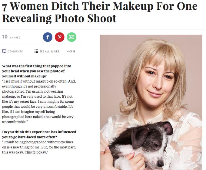 Семь известных женщин снялись с макияжем и без. Изображение № 6.