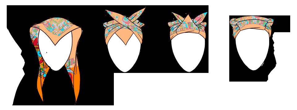 7 способов повязать платок  на голову. Изображение № 4.