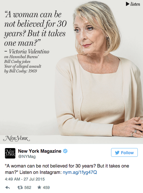 35 женщин, обвинивших Билла Косби в насилии,  на обложке NYMag. Изображение № 3.
