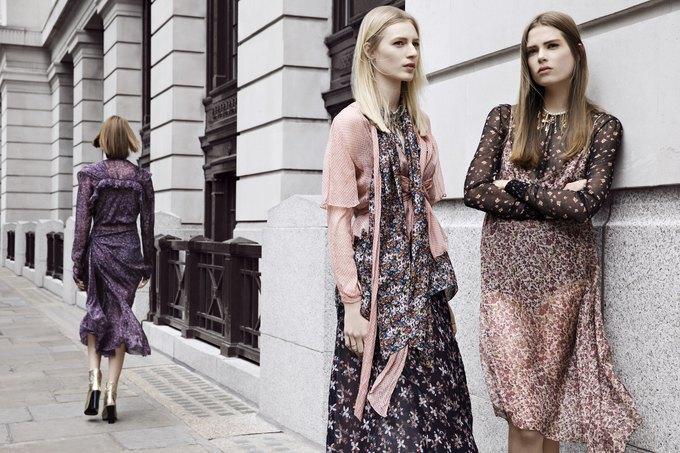 Модели на улицах Лондона в новой кампании Zara. Изображение № 10.