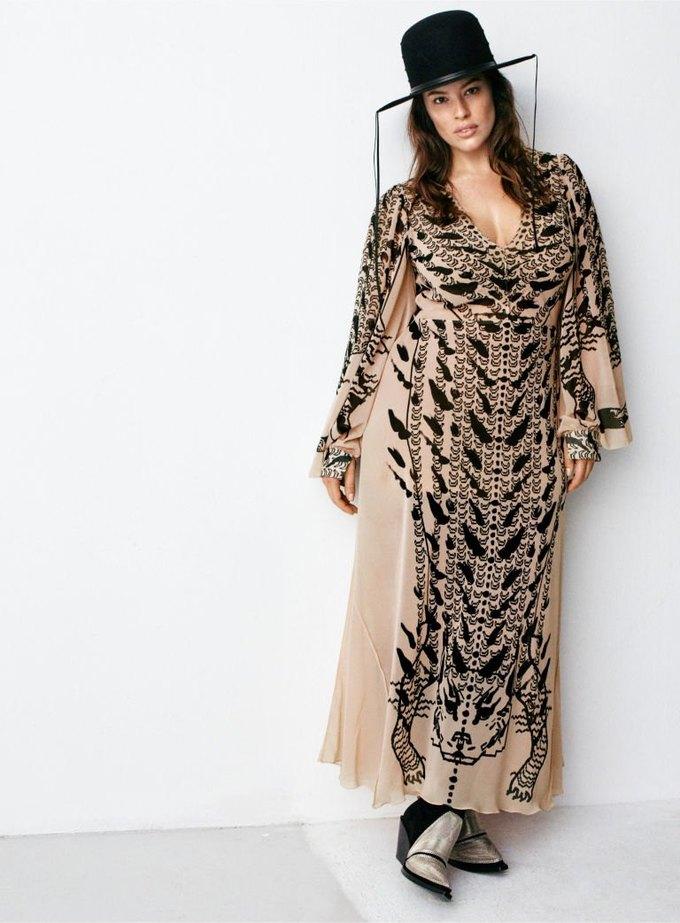 Плюс-сайз-модель Эшли Грэхэм стала лицом коллекции H&M Studio. Изображение № 1.